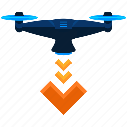 drone, land icon