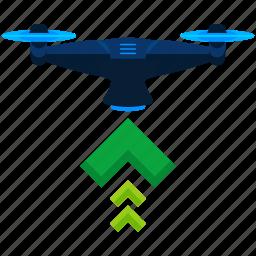 drone, lift icon