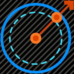 arrow, direction, drone, gaming, navigation, reality, virtual icon