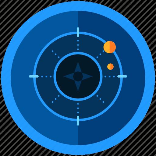 drone, gaming, navigation, seeking, target, technology icon