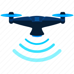device, drone, hover, scan, scanning, technology icon