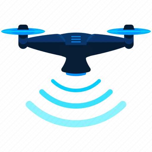 drone, hover, scan, scanning icon