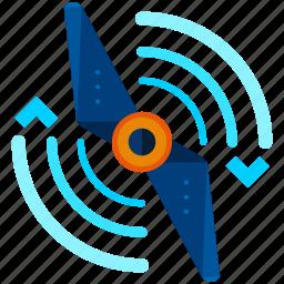 drone, propeller icon