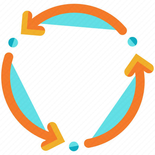 arrows, rotate icon