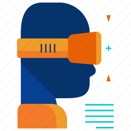 goggles, virtual reality icon