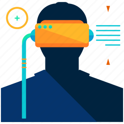 gear, virtual reality icon