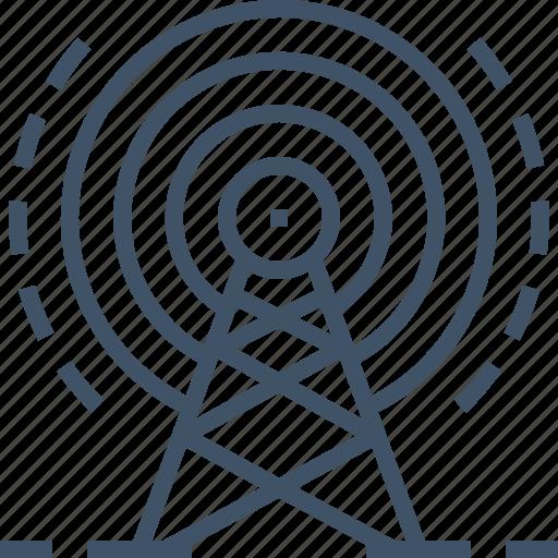 antenna, internet, signal, wifi, wireless icon