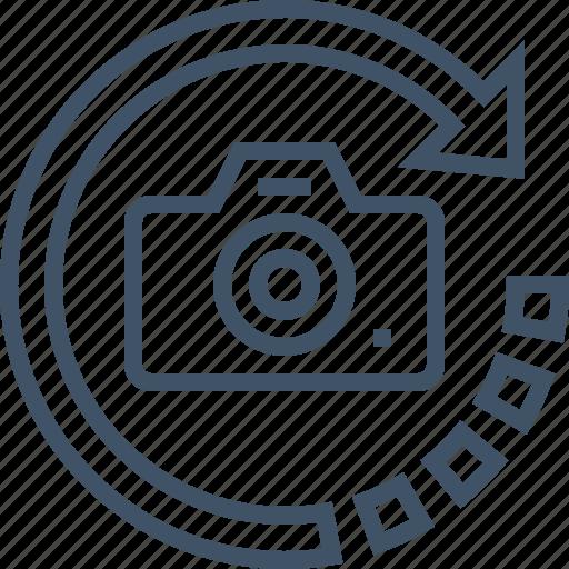angle, camera, horizontal, perspective, rotation, vertical icon