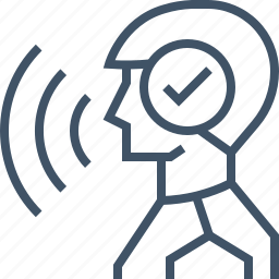 control, detection, sound, speak, voice icon