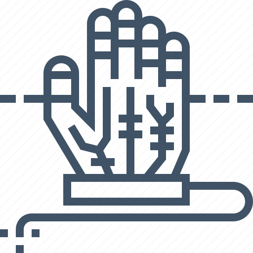 device, gloves, hand, tracking, wired icon