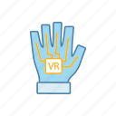cyberglove, glove, haptic, reality, virtual, vr, wired icon