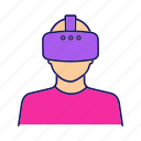glasses, headset, mask, player, reality, virtual, vr icon