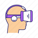 3d glasses, console, play, player, reality, virtual, vr icon