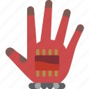glove, reality, virtual, virtual reality, vr icon