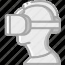 helmet, reality, virtual, virtual reality, vr icon