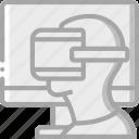 game, play, reality, virtual, virtual reality, vr icon