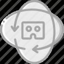 headset, reality, sixty, three, virtual, virtual reality, vr icon