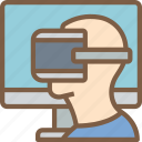 game, play, reality, virtual, virtual reality, vr icon