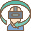 headset, reality, sixty, three, virtual, virtual reality, vr icon