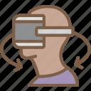 movement, reality, sixty, three, virtual, virtual reality, vr icon