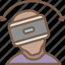 movement, reality, side, virtual, virtual reality, vr icon