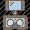 headset, phone, reality, virtual, virtual reality, vr icon