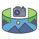 camera, panorama, reality, scenery, view, virtual, vr icon