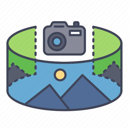 camera, panorama, reality, scenery, view, virtual, vr icon