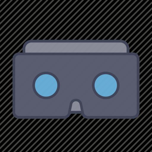 cardboard, glass, google, oculus, virtual, vr icon