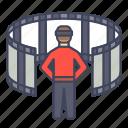 movie, multimedia, reality, simulator, virtual, vr icon