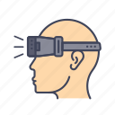 device, gadget, oculus, reality, simulator, virtual, vr icon