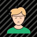 dizziness, headache, man, sick icon