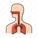 breathing, coronavirus, covid19, system icon