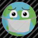 corona, coronavirus, covid19, virus, world mask