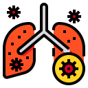 anatomy, body, lung, organ, pnemonia icon