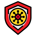 bacteria, protect, security, shield, virus icon