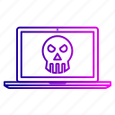 antivirus, danger, device, hacked, notice, warning icon
