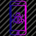 device, hack, phon, smartphone, virus icon