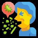 bacteria, cough, illness, pacient, sickness, sneeze, virus icon