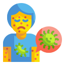 cell, disease, infected, medical, patient, person, virus icon