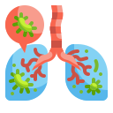 bacteria, cancer, disease, infectious, lung, medical, virus icon