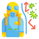 bacteria, chemical, diagnosis, lab, research, scientist, virus icon