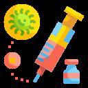 anesthesia, drug, injection, medical, syringe, vaccine, virus icon