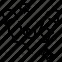 bat, infection, virus icon