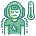 bacteria, fever, infect, patient, sick, sickness, virus icon