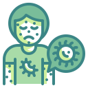 cell, disease, infect, infected, medical, person, virus icon