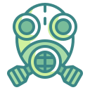 bacteria, diagnosis, guise, mask, protect, scientist, virus icon