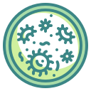 bacteria, cell, dish, lab, microorganism, petri, virus icon