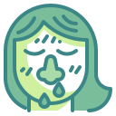 bacteria, infect, mucus, nose, patient, snot, virus icon