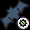 bat virus, corona, covid, disease, epidemic, transmission, virus icon